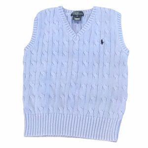 Polo by Ralph Lauren blue cable knit vest 6